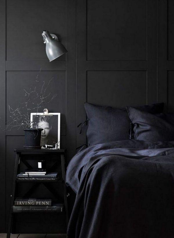 20 Amazing Details Bedroom With Astounding Decoration That You Will Love It Pelaburemasperak Com In 2020 Black Bedroom Dark Interior Design Black Bedroom Furniture