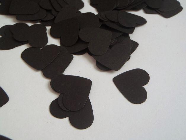 Decorazioni - 150 cuori neri coriandoli nozze matrimonio gotico - un prodotto unico di LaSoffittaDiSte su DaWanda