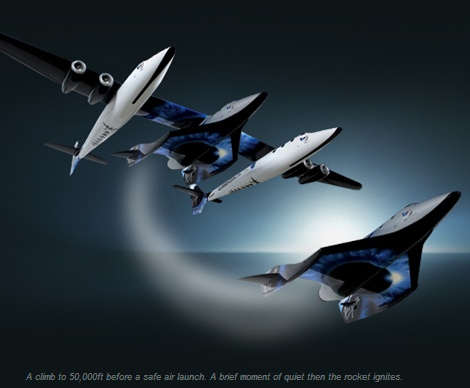 Virgin Galactic - Illustration of Air Launch