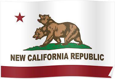 New California Republic Flag Original  Posters
