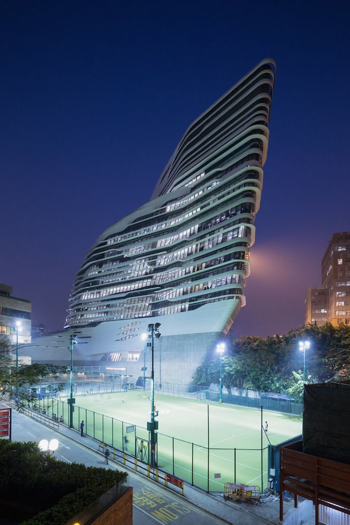 Zaha Hadid's Modern University Building in Hong Kong - My Modern Met