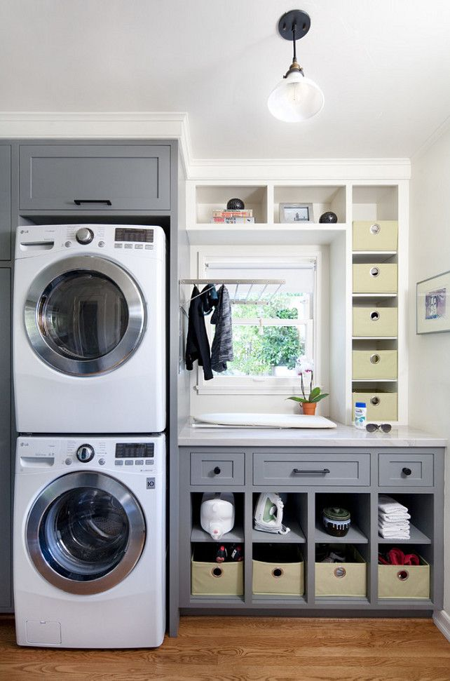 valuable inspiration laundry organization. Small Laundry Room with Gray Cabinets I like the grey wood  Also could have more room if stacked washer and dryer 79 best Homes Basements images on Pinterest Flat irons