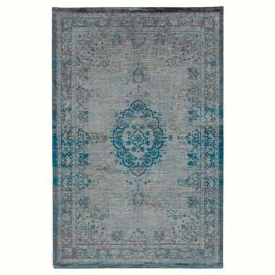 The Fading World - 8255 Grey / Turquoise Rugs - buy online at Modern Rugs UK
