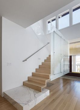 El Camino Residence - Cantilever steel stair - modern - staircase - san francisco - Moroso Construction