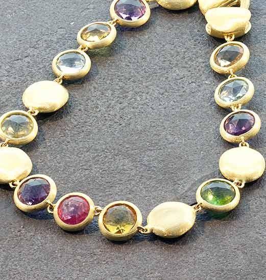 Marco Bicego Jaipur Citrine, Amethyst & Pink Tourmaline Collar Necklace