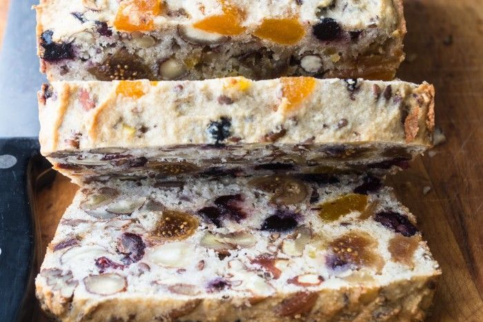 This quick and easy Paleo Fruit and Nut Bread is grain, sugar, and dairy free. It's also amazingly versatile, and fabulous toasted!