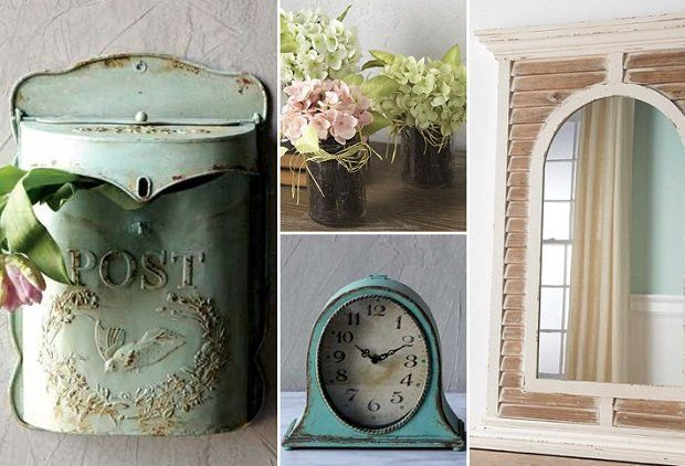 THE DRIFTWOOD COTTAGE  Peruse the deals of the day and bring The Driftwood Cottage style to your home whether you live in a ranch, an apartment or an antique farmhouse.  The Embossed Tin Vintage Inspired Mailbox has a soft color and sense of romance, and the Distressed Metal Table Clock will lend timeless beauty to your home.  A Large Framed Mirror With Distressed Slats will create a warm and inviting feel wherever this wall mirror hangs.