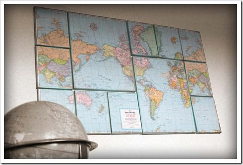 Love this map display ideaWall Decor, Ideas, Wallart, Diy Art, Canvas Art, Diy Canvas, World Maps, Diy Wall Art, Art Tutorials