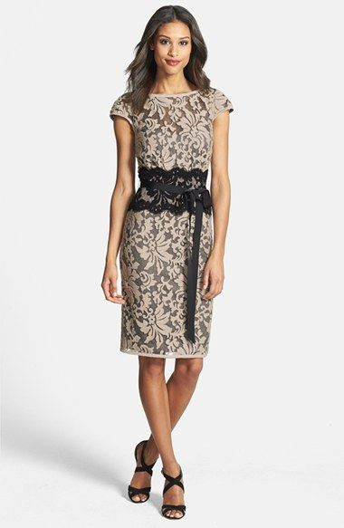 Tadashi Shoji Embroidered Lace Sheath Dress available at #Nordstrom