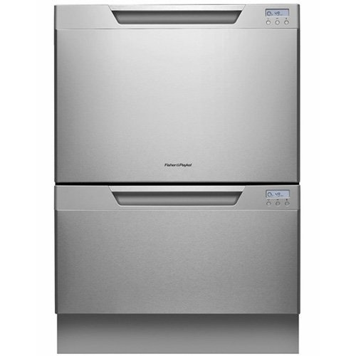 Fisher Paykel  DD24DCTX7  Fisher & Paykel DD24DCTX7 Semi-Integrated Double DishDrawer with 14 Place Settings, 9 Cycles, Eco Option, 163° Sanitizing Temperature, Delay Start and Adjustable Racks:  Consumer Reports best 2 drawer dishwasher. Ours is black.