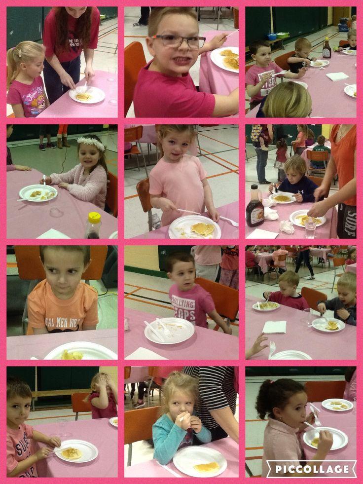 pancake breakfast on pink shirt day - Feb 22, 2017