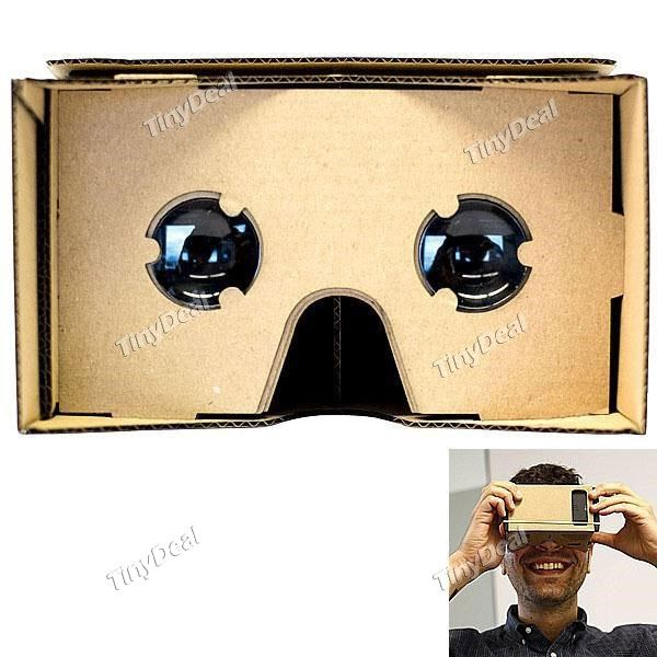 Unassembled DIY Google Cardboard Cellphone Virtual Reality 3D Glasses for iPhone Samsung Cellphones EPATH-334753  Free unregistered air mail from Hong Kong