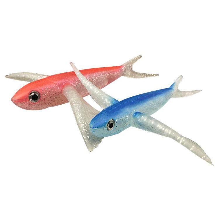 Seawater Fishing Lure flying fish  Soft Bait Fishing Lure sea angling curls trolling tuna mackerel Fishing Lures