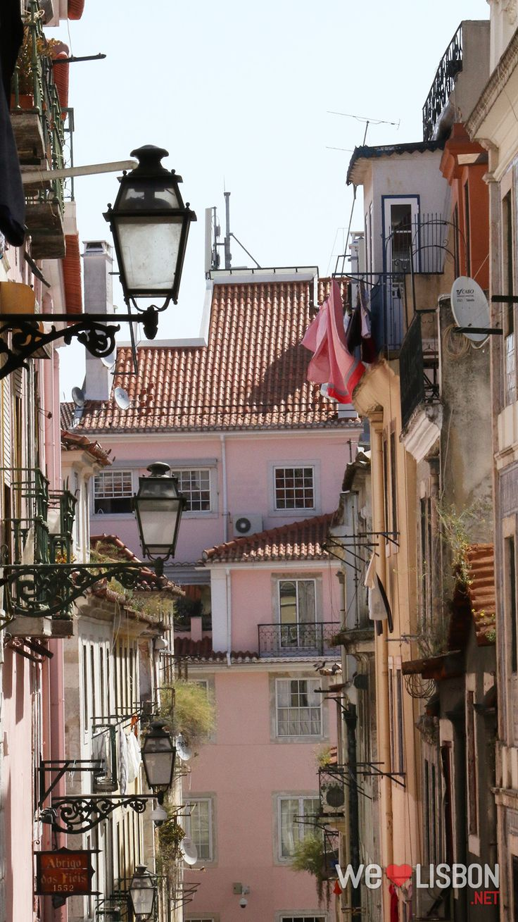 Traditional streets in Bairro Alto - Lisbon