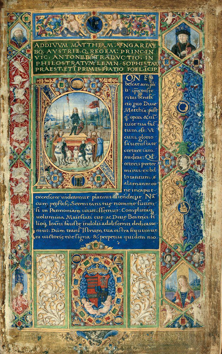 From one of my favorite libraries, the Bibliotheca Corviniana. Attavanti degli Attavante is the artist.