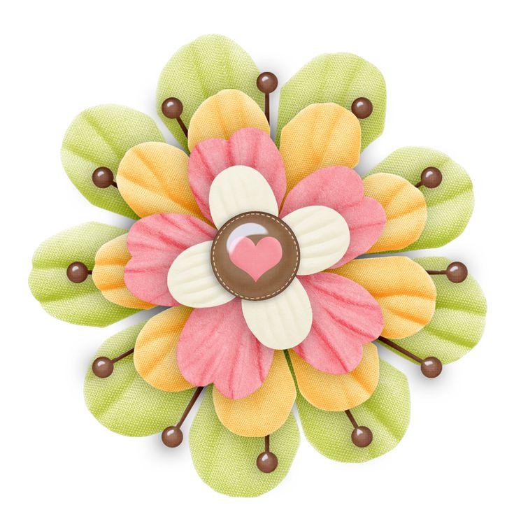 free scrapbook flower clipart - photo #44