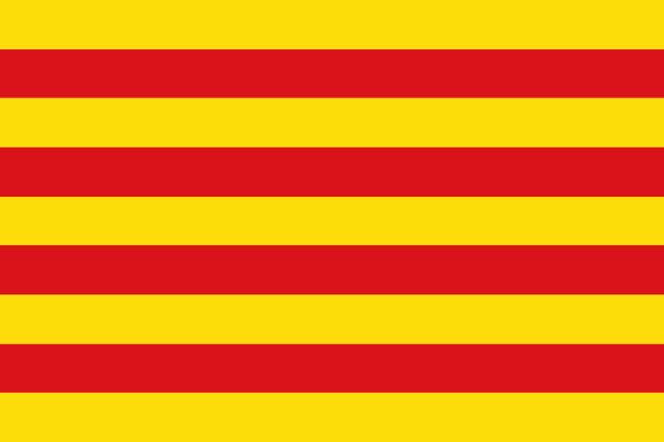Bandera de la Comunidad Autónoma de Cataluña.