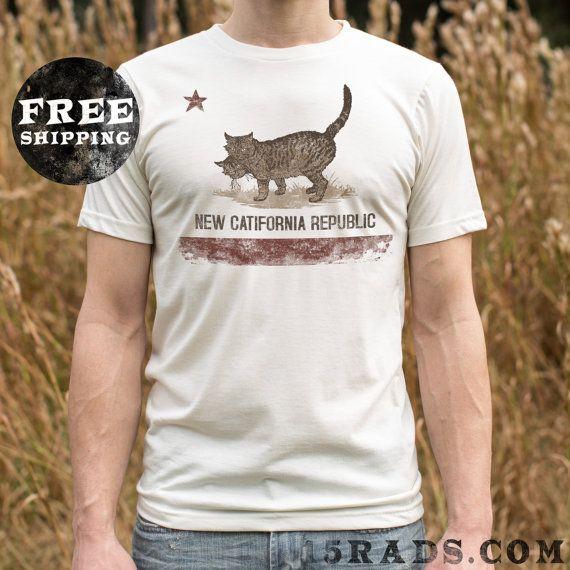 Fallout Shirt New Catifornia Republic MEOW Cat shirt by 15rads