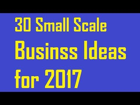 30 Small Scale Business Ideas for 2017 - http://insideminnesotatoday.com/30-small-scale-business-ideas-for-2017/