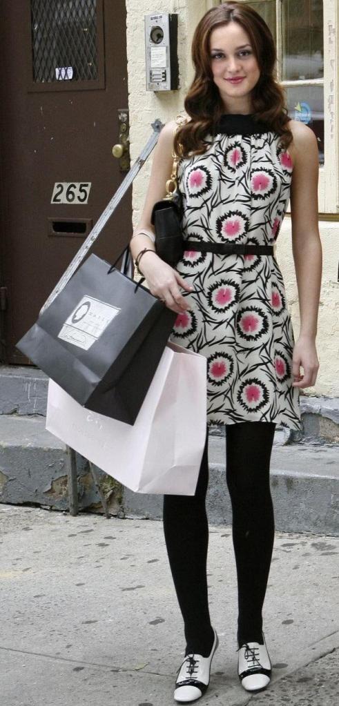 Blair Waldorf - Milly dress.  Zara shoes.