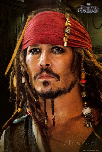 Filmposter Pirates of the Caribbean, On Stranger Tides, Johnny Depp als Jack Sparrow Posters bij AllPosters.nl