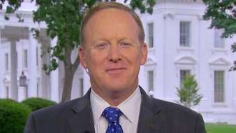 """White House press secretary Sean Spicer on Friday knocked former President Barack Obama for his criticism of the """"fundamental meanness"""" of the Senate GOP's healthcare plan."""