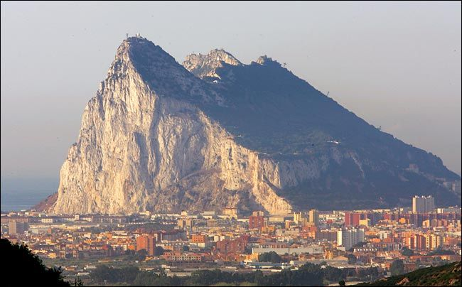 The Rock of Gibraltar is also known as The Pillar of Hercules and is home to the only wild primates found in Europe, barbary macaques.
