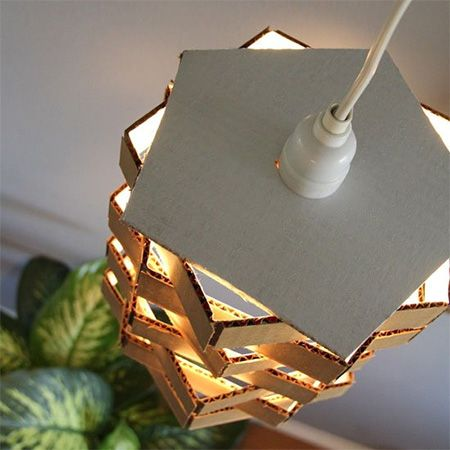 Turn a cardboard box into a quick and easy lampshade that can easily be dressed up or down for any room in a home. - See more at: http://www.home-dzine.co.za/craft/craft-cardboard-lamp.html#sthash.el2pvGw7.dpuf
