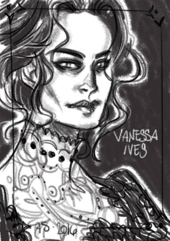 Vanessa Ives, Penny Dreadful tribute sketch by Alessia Sagnotti