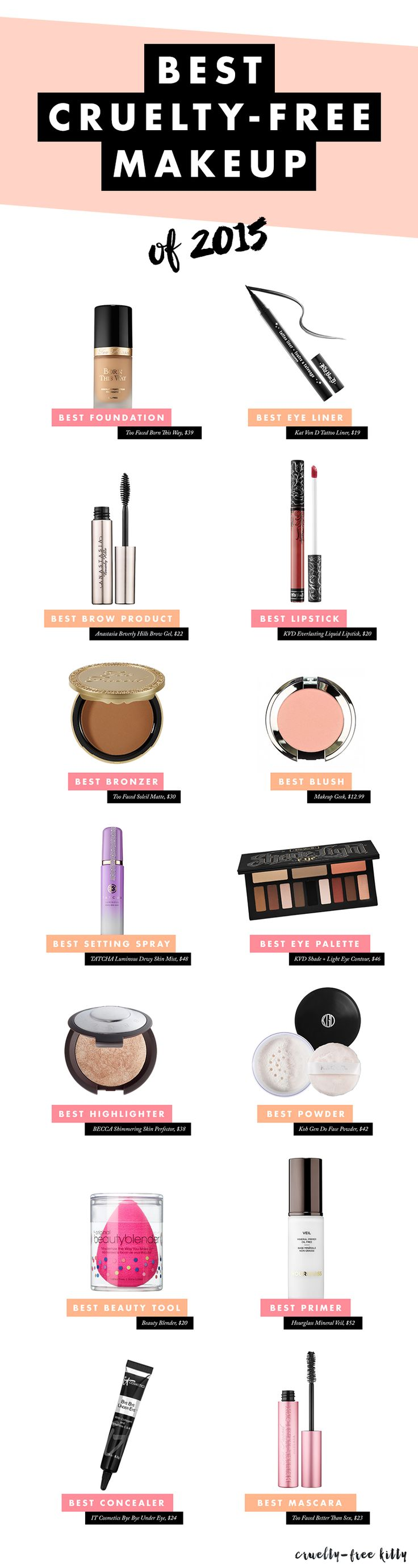 Ditch the animal cruelty! These brands are 100% cruelty-free.