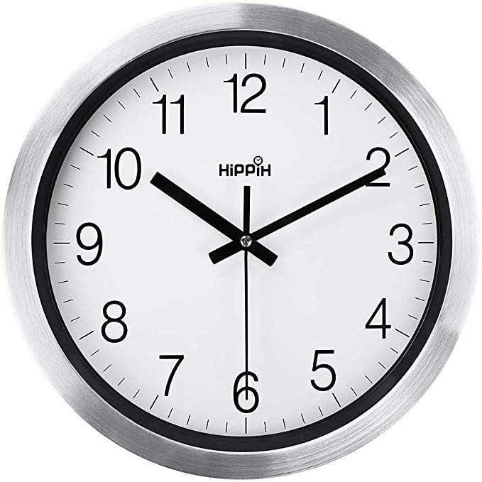 Coindivi Silent Wall Clock 12 Inch Non Ticking Battery Operated Wall Clock Accurate Sweep Movement Easy To Read Decorative Home Office School Met Contemporary Wall Clock Clock
