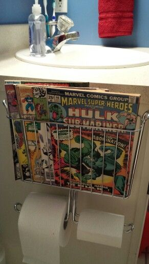 Marvel Avengers bathroom magazine rack