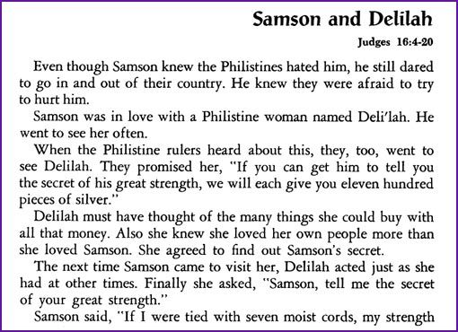 Greatest Adventure Samson Delilah Details