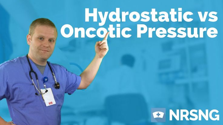Free Lab Value Cheat Sheet at: http://www.NRSNG.com/labs What's the difference between hydrostatic and oncotic pressure? Never heard of oncotic pressure? Thi...