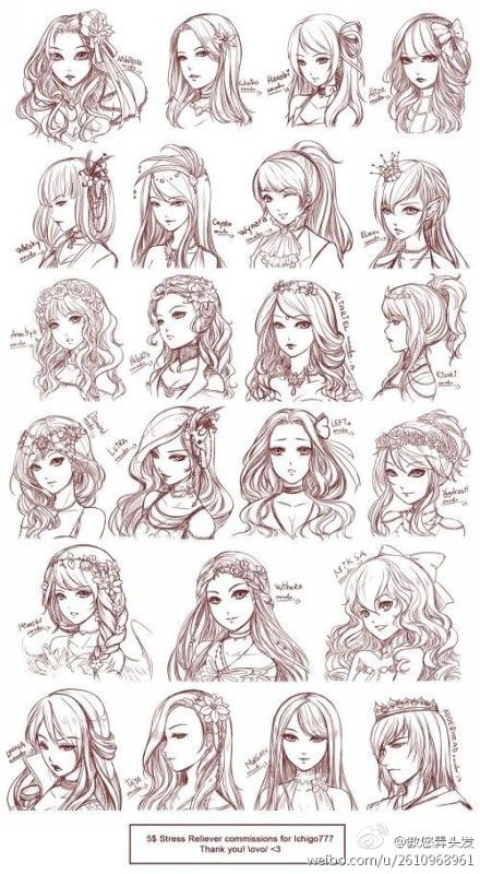 Face & Hair references for my final story character, Xi-Wang.