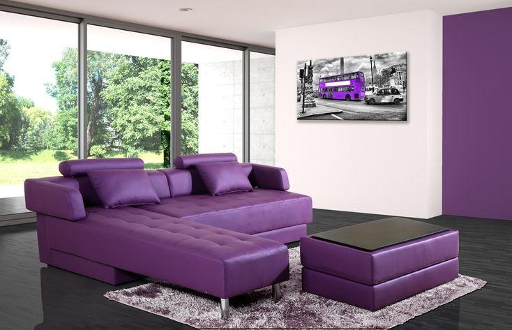 Les 25 meilleures id es de la cat gorie canap violet sur - Canape convertible violet ...