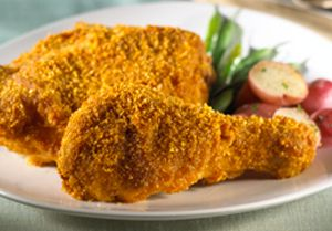 Double-Coated Chicken -  This classic recipe creates tender, juicy chicken pieces with a crisp, delicious coating of Kellogg's Corn Flakes® cereal.