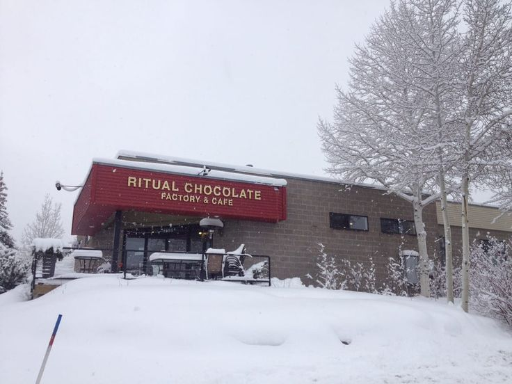 Photo of Ritual Chocolate - Park City, UT, United States. Ritual Chocolate on a beautiful snowy day in the mountains