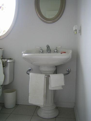 Pedestal Sink Towel Bar Wall Mount B Wall Decal