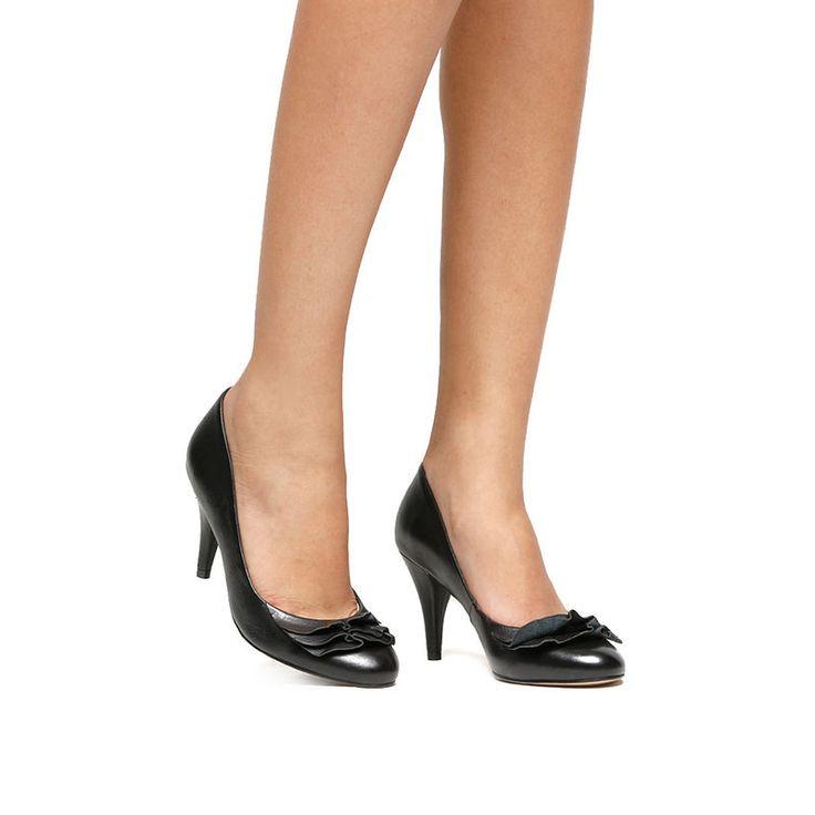 Scarpin Shoestock Babado - Preto