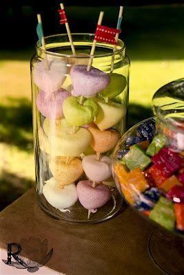 �rboles y pinchos de chuches para fiestas de cumplea�os o comuniones