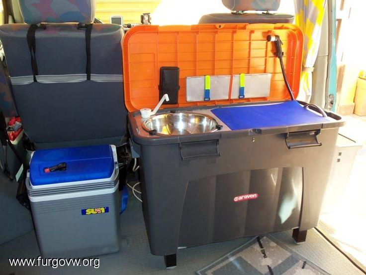 Arcón fregadero-cocina-ducha-basurero