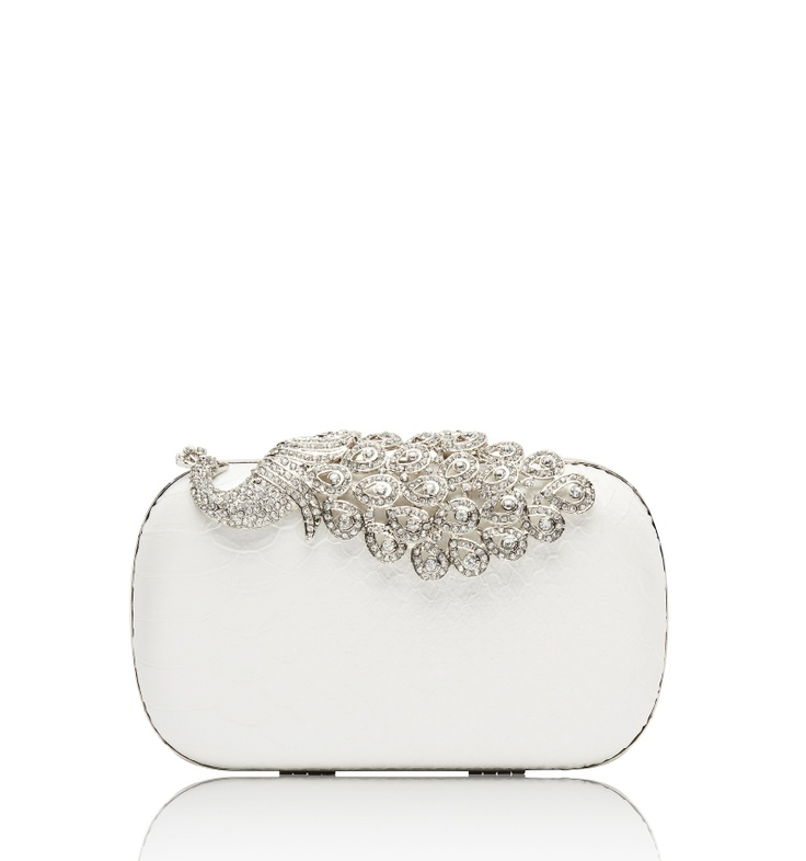PEACOCK EMBELLISHED CLUTCH