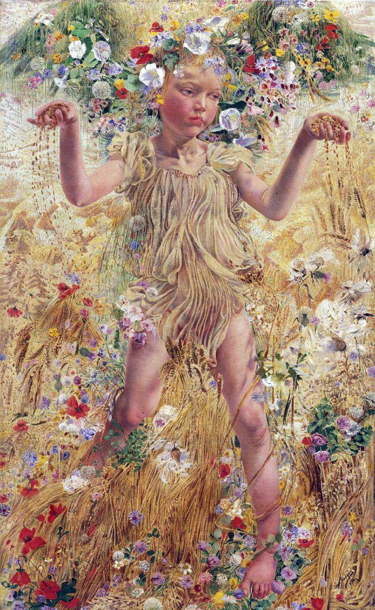 Léon Frédéric (Belgian, 1856-1940). The Four Seasons: Summer, 1894. Philadelphia Museum of Art:
