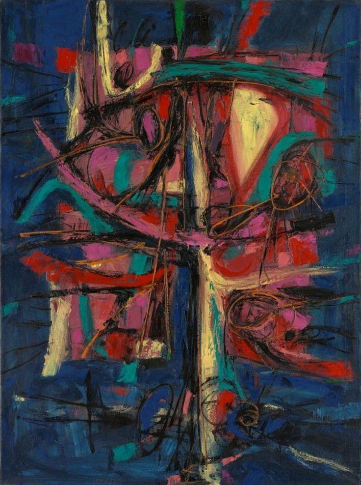 Jan Kotik - Painting, 1962, oil on canvas, 146 x 120 cm