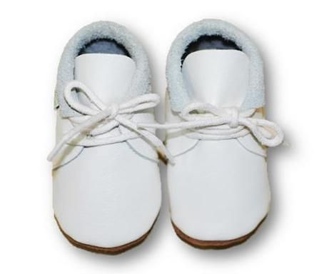 mokasynki BIAŁE Leather Baby Shoes Moccassins White https://fiorino.eu/