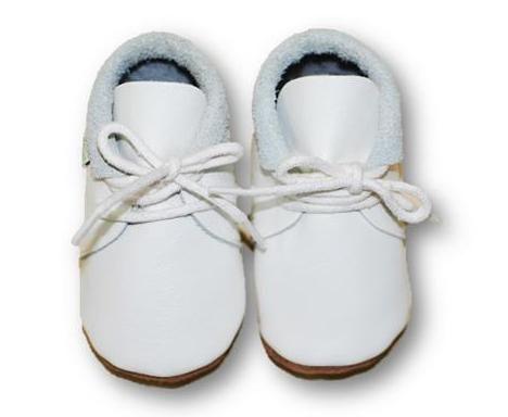 mokasynki BIAŁE Leather Baby Shoes Moccassins White https://fiorino.eu/