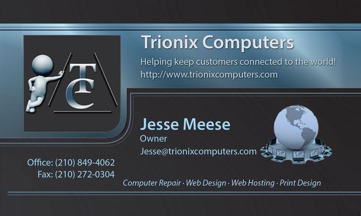 Trionix Computers Business Card Design
