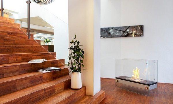 Fireplace without chimney bioethanol bulkhead freestanding decorative fireplace glass