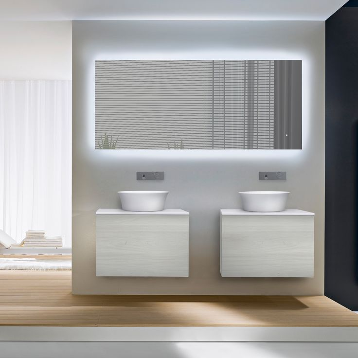 Images Of Italian crafted modern bathroom furniture collection features modular wall mount vanities and mirrors with LED lighting ranging in width from to